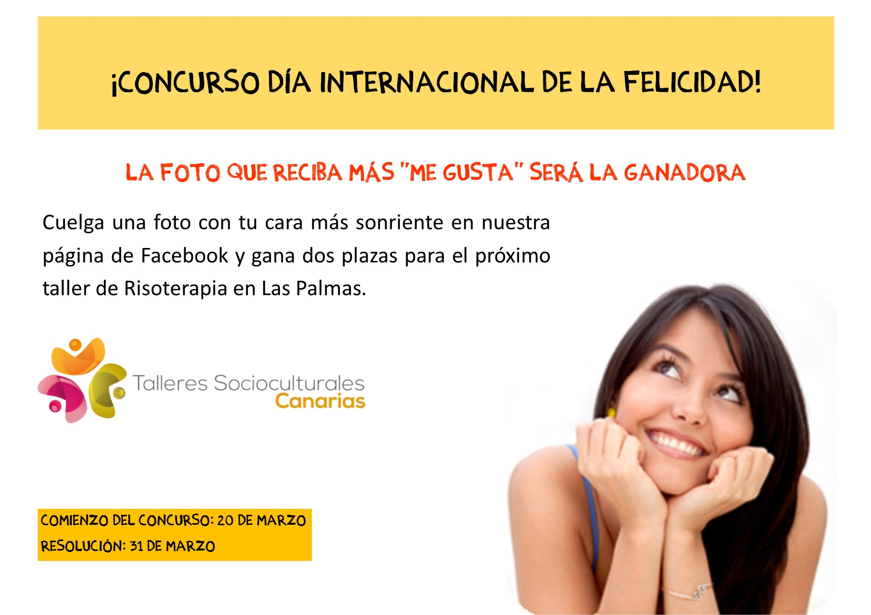 Nuevo concurso por el Día Mundial de la Felicidad